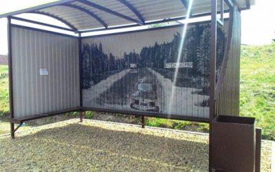 Остановку в Рославле украшает граффити