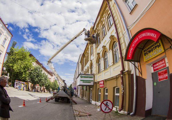 «Освежат» фасады домов Смоленска