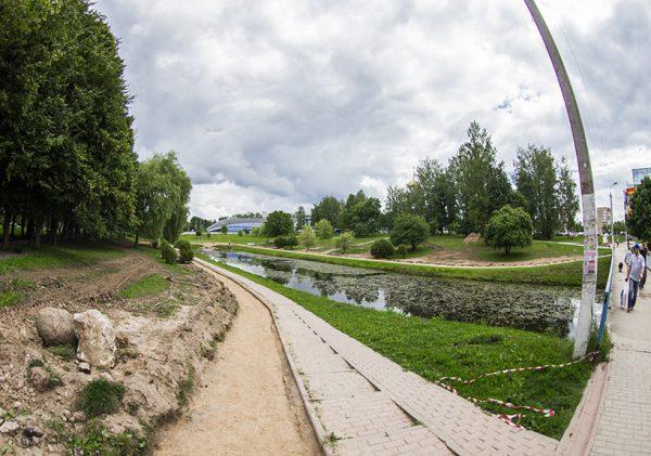 Парк 1100-летия Смоленска на реконструкции
