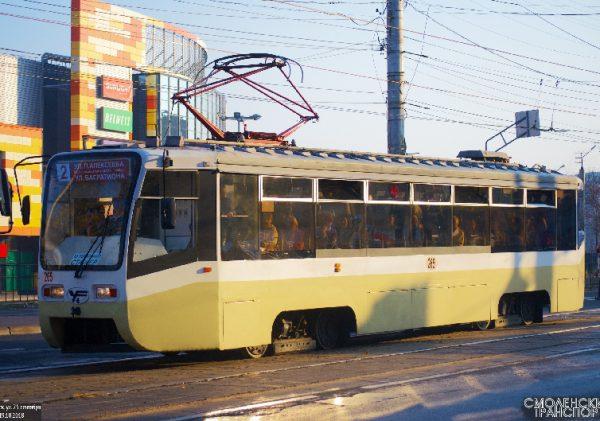 Московский трамвай курсирует в Смоленске