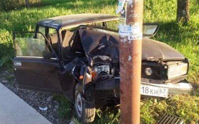 В Смоленской области автоледи на полном ходу  протаранила трубопровод