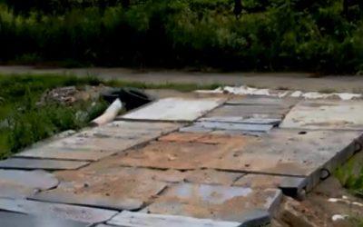 Могильную дорогу к дому построили в Смоленском районе