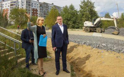 Андрей Борисов проинспектировал ход ремонта дорог в Смоленске