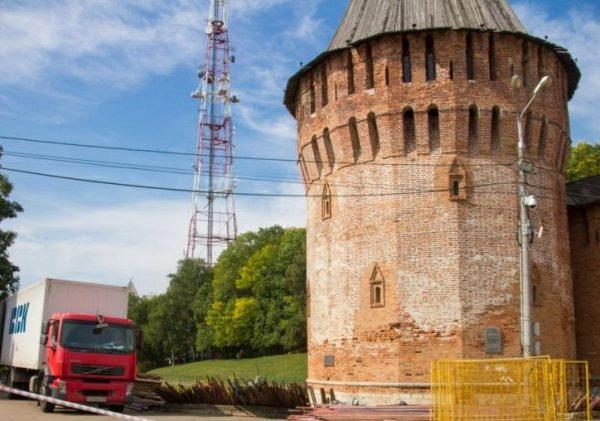 Крепостную стену в Смоленске готовят к реставрации
