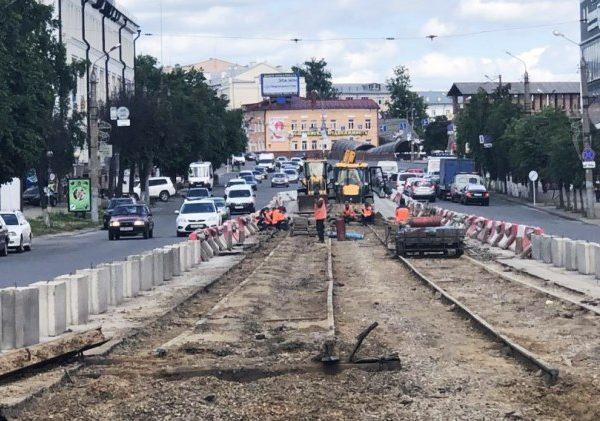 Стало известно, как проходят работы на проспекте Гагарина в Смоленске